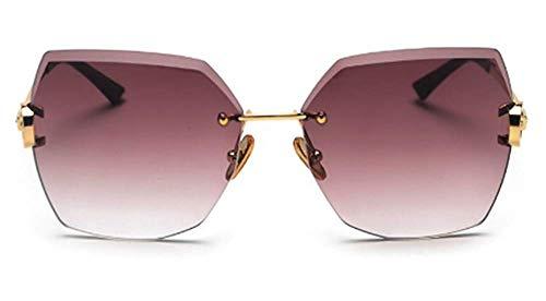 GONGFF Sunglasses Female Big Box Cut Edge Sunglasses Sunglasses