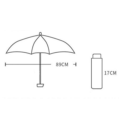 Hexiansheng Folding Umbrellas Travel Umbrellas for Windproof Shades Suitable for Ladies, Men, Children Small and Portable 17cm (Color : Off-White) by Hexiansheng (Image #2)