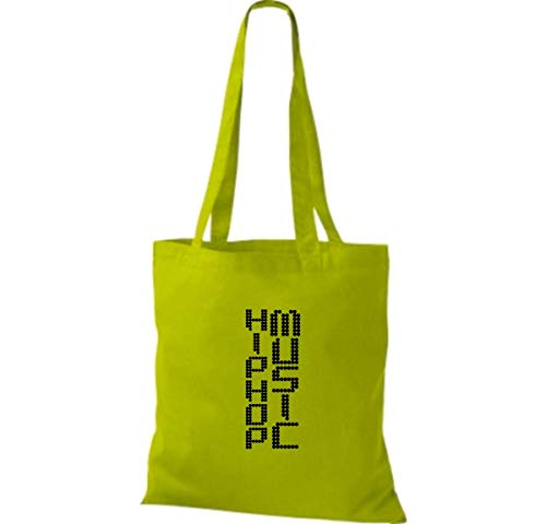 Bolso Shirtinstyle Verde Lima Algodón Tela De Mujer Para FPn6PwSqT