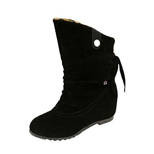 9128f4c8 Kukul BOT-B955 Botines para Mujer Botas de tacón alto 2017 Zapatos de El  flocado