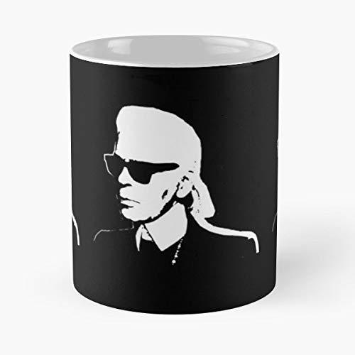 Karl Lagerfeld Fashion Chanel Paris - Ceramic Novelty Mugs 11 Oz, Funny Gift