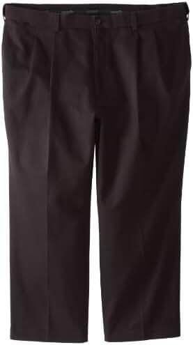 Savane Men's Big & Tall Pleated Performance Chino Pant