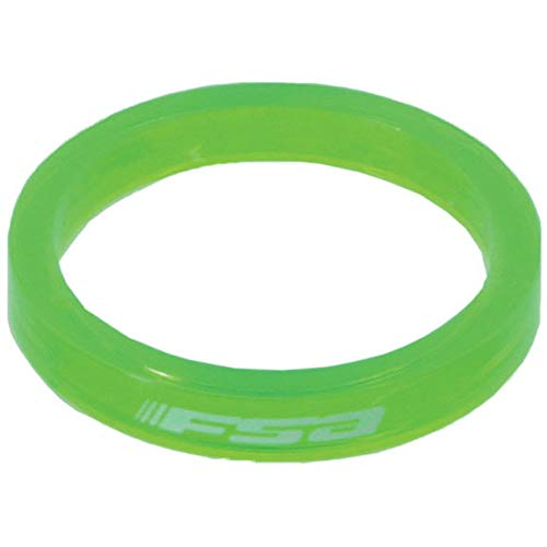 FSA Polycarbonate Headset Spacer-Pack of 10 (1-1/8-Inch x 5mm, Green) by FSA