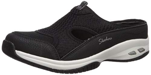 Skechers Women's Commute TIME-RIDESHARE-Quarter Cut Out Open Back Mule, Black, 6 M US