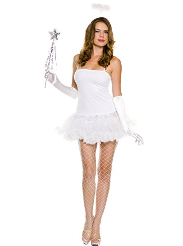 Music Legs Women's Angel Accessory Kit, White, One Size - White Angel Costumes Kit