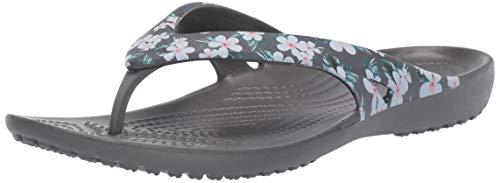 Crocs Women's Kadee2seaflpw Flip-Flop, Tropical Floral/Slate Grey, 7 M US