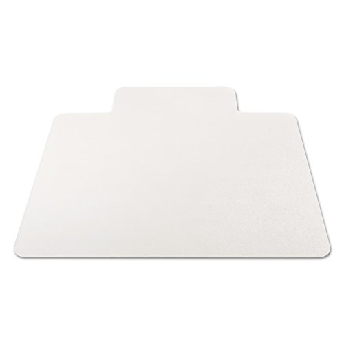 Alera ALEMAT4553HFL Non-Studded Chair Mat for Hard Floor, 45'' x 53'', with Lip, Clear by Alera