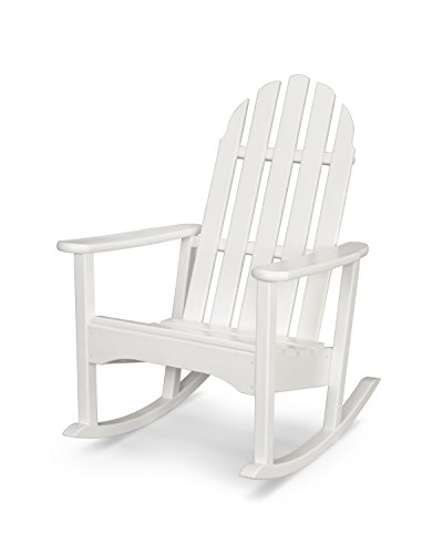 POLYWOOD ADRC100WH Classic Adirondack Rocking Chair Rocker, White