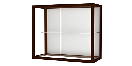 Waddell 894M-WB-C Heirloom 36 x 30 x 14 in. Wall or Top Display Case for Heritage Counter44; White Back - Cordovan