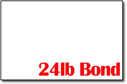 - Bright White 24lb Bond 5 1/2