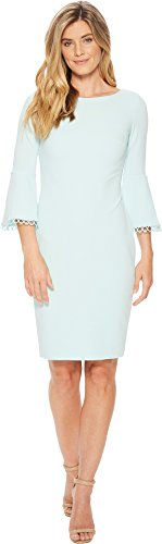 Calvin Klein Womens Circle Trim at Bell Sleeve Cuff Sheath CD8C16HM Seaspray 6 One Size by Calvin Klein