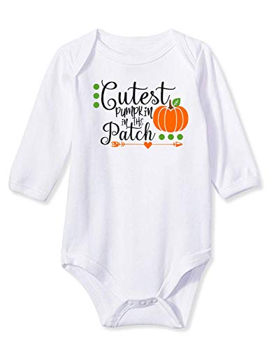 1st Halloween Onesie Active Long Sleeve Bodysuits Lightweight Cozy Outfit Pack for Unisex Baby Girl Boy Neice Nephew Lil Sis Brother, 0-3 M -