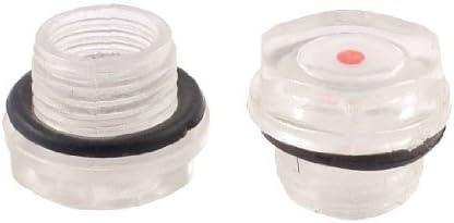 DealMux 2 pezzi 16 millimetri filettatura maschio rotonda livello dellolio plastica vetro di vista per il compressore daria