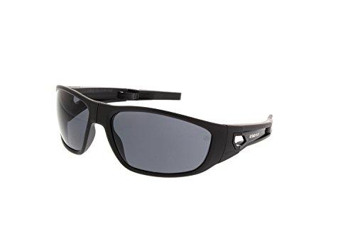 Tag Heuer Kalibre 9401 101 Rectangular Folding Sports Sunglasses Black - Heuer Tag Mens Sunglasses