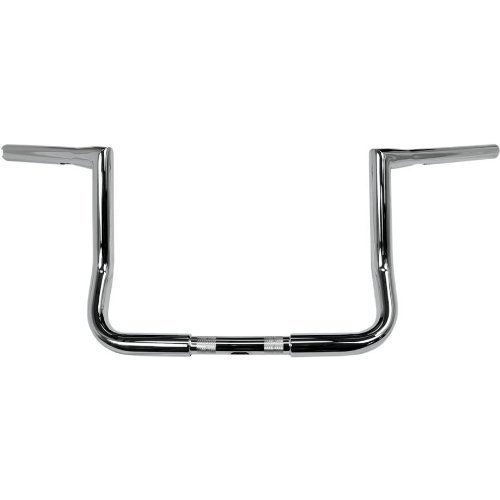 LA CHOPPERS LA-7361-10 11/4-Inch Twin Peaks Touring Handle Bar, Chrome, 10 Inches