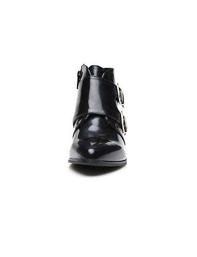 Tacón Uk7 Eu39 Cn40 Exterior Sintético Negro Mujer Cn41 Moto 5 Xzz us9 Anfibias us8 Uk6 5 Robusto Casual Eu40 De Black Botas Cuero Zapatos Black qpxFt