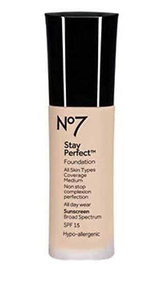 Stay Perfect Foundation SPF 15,BOOTS NO7( Warm Beige)-2pcs