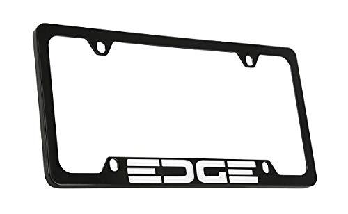 Ford Edge Black Coated Metal Bottom Engraved License Plate Frame Holder ()