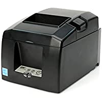 Star Micronics TSP654IICLOUDPRNT USB / Ethernet (LAN) Thermal Receipt Printer with CloudPRNT, Cutter, and External Power Supply - Gray