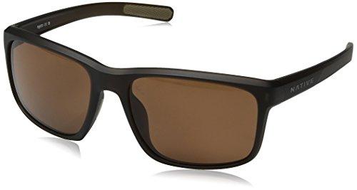 Native Eyewear pozos anteojos de sol, café, vidrio Mate