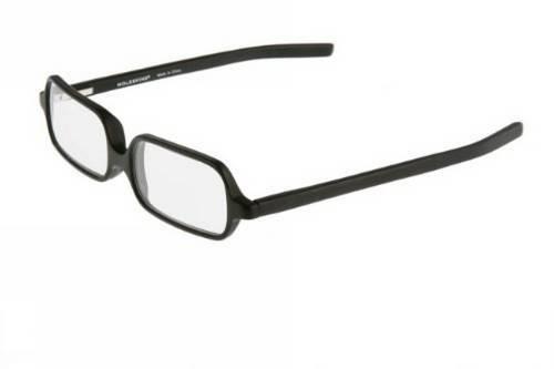 Moleskine Black Acetate Frame Reading Glasses, +2.5, - Acetate Italian Glasses