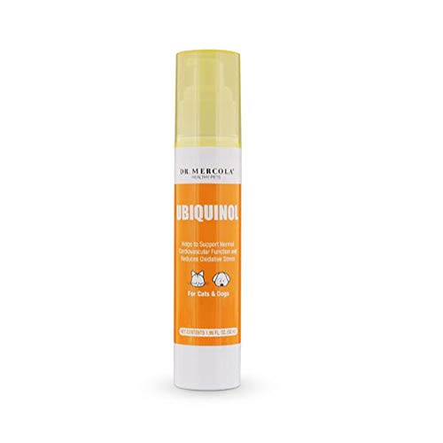 Dr. Mercola Ubiquinol for Pets Liquid Pump - 1.6oz - Kaneka Ubiquinol (CoQ10): Supports Cardiovascular, Immune System Function & Reduces Oxidative Stress - High Absorption Rate & Powerful Antioxidant