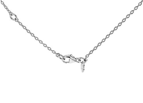 Shaun Leane en argent sterling 925, diamant et mère de perle blanc perle collier pendentif plumes Longueur de 45-51Cm