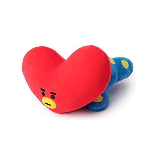 BT21 Official Merchandise by Line Friends - TATA Mini Cushion Stuffed Pillow, Red