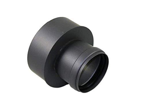 AdoroSol Vertriebs GmbH Erweiterung von 80 weit auf 150 schmal Pellet in Schwarz oder Grau /Ø 80 mm Ofenrohr f/ür Pellet/öfen Schwarz