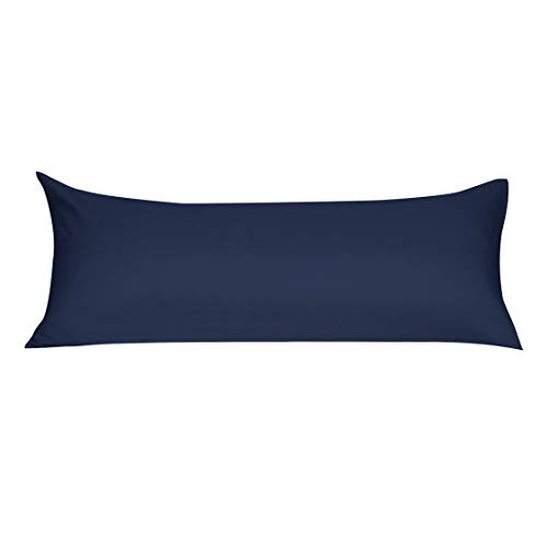uxcell Soft Microfiber Body Pillow Cover with Zipper Closure, Long Pillow Cases for Body Pillows, 20 inches x 60 inches, Navy (Pillow Inch Bolster 60)