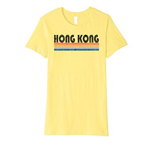 Womens Premium Vintage 1980s Style Hong Kong T Shirt XL - Woman Kong Hong