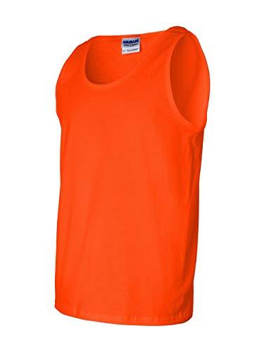 Adult Cotton Tank Top (Orange) (Large) -