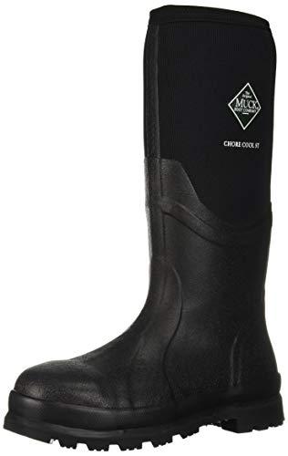 Muck Boot Men's Chore Cool Steel Toe Rain Boot, Black, 10 Medium US