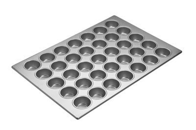 Focus Foodservice 35 Cup Cupcake Pan, 17 7/8 x 25 7/8 inch -- 3 per case. by Focus Foodservice