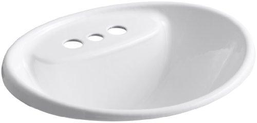 KOHLER K-2839-4-0 Tides Bathroom Sink, White