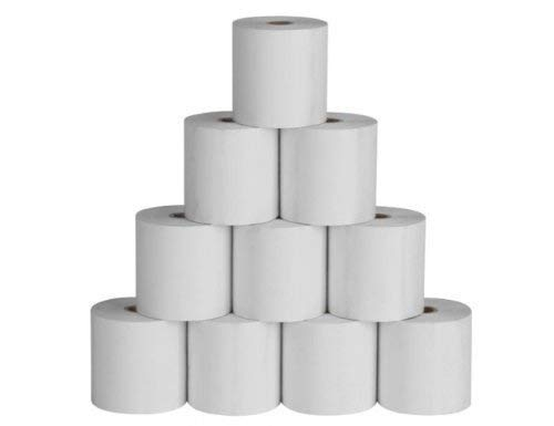 PAWSAM 5515 Thermal Paper Rolls 55mm (Width) x 15 Mtrs (Length), Pack of 10 Rolls