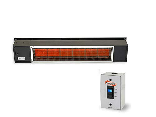 Sunpak Tsh 48-inch 34,000 Btu Natural Gas Two-stage Infrared Patio Heater - Black - S34 B Tsh-ng ()