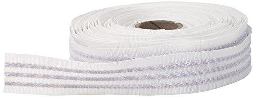 Pearl 3 Strand Grip Tape, 100 Percent Elastic, 10 yd, White
