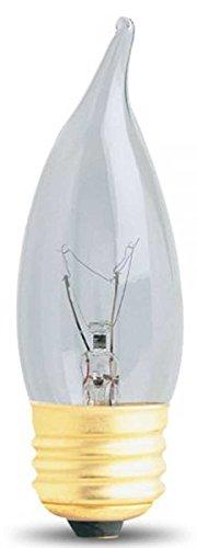 Feit Electric 40EFC-130 40-Watt (5 PACK) Incandescent Clear Flame Tip Chandelier Bulb -
