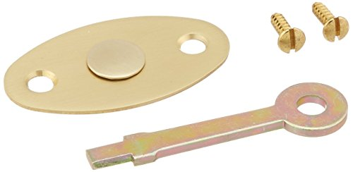 Baldwin 0416033 Emergency Release Trim, Oval Vintage Brass Baldwin Emergency Release Trim
