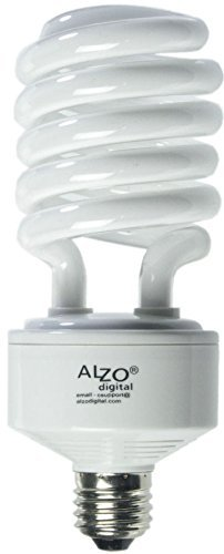 - Alzo Digital 45W 120V Joyous Light Full Spectrum CFL Light Bulb, 5500K, 2800 Lumens