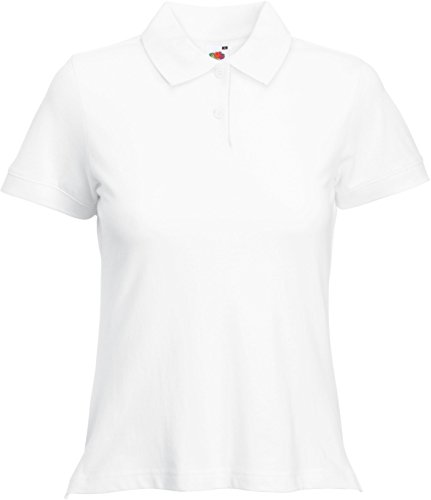 Fruit of the Loom Classic Poloshirt XL,White