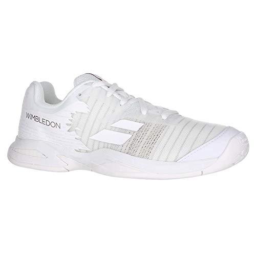 (Babolat All Court Wimbledon Junior Tennis Shoe - White/White - Size 5.5)