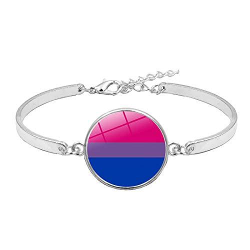 CHOORO LGBT Bracelet Rainbow Gay & Lesbian Pride Bracelet Bisexual Pride Bracelet Transgender Pride Bracelet LGBT Jewelry Gift (Bisexual)