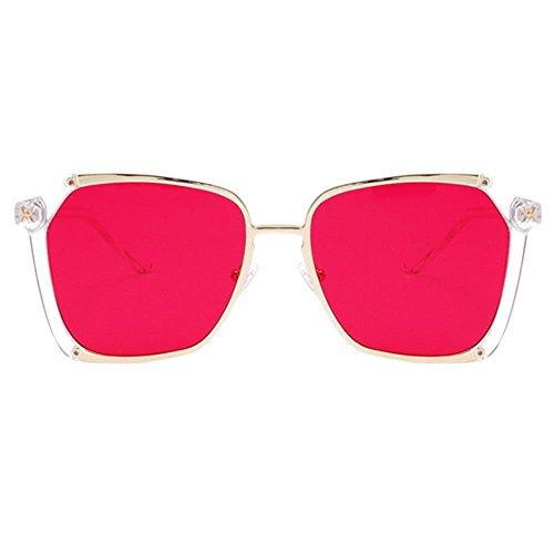 lunettes plein air Aviateur soleil Cadre Gradient pour Rouge Meijunter lunettes grand lunettes de Marche UV400 métal verres lunettes de Randonnée Node Shopping carré RnqwxPFn