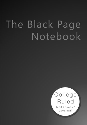 Journaling Pad (The Black Page Notebook: College Ruled Notebook/Journal)