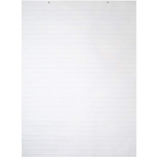Pacon 9770 Chart Tablets w/Glued Top, Ruled, 24 x 32, White, 70 Sheets