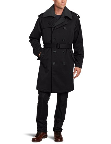 Michael Kors Men's Grover Trench Coat, Black, 42 Small (Michael Kors Trench Coat)