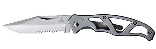 Gerber Paraframe Mini Knife, Serrated Edge, Stainless Steel [22-48484]