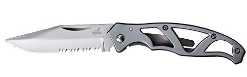 Gerber Paraframe Mini Knife, Serrated Edge, Stainless Steel